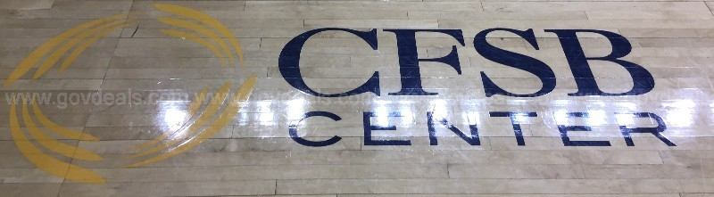 Murray State University Basketball Floor – West CFSB Logo