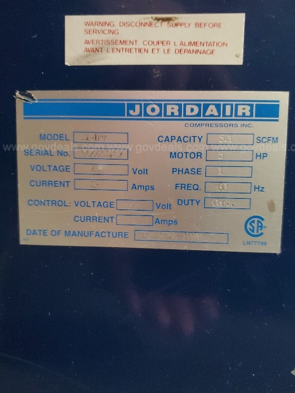 Jordair Air Compressor